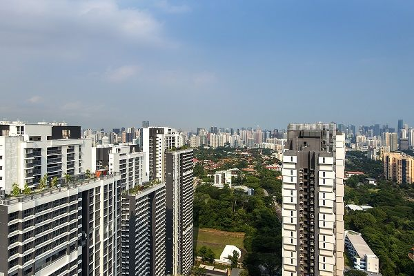 The top floor view from Skyville @ Dawson towards Jervois Road and River Valley. (Picture: Albert Chua/The Edge Singapore) - EDGEPROP SINGAPORE