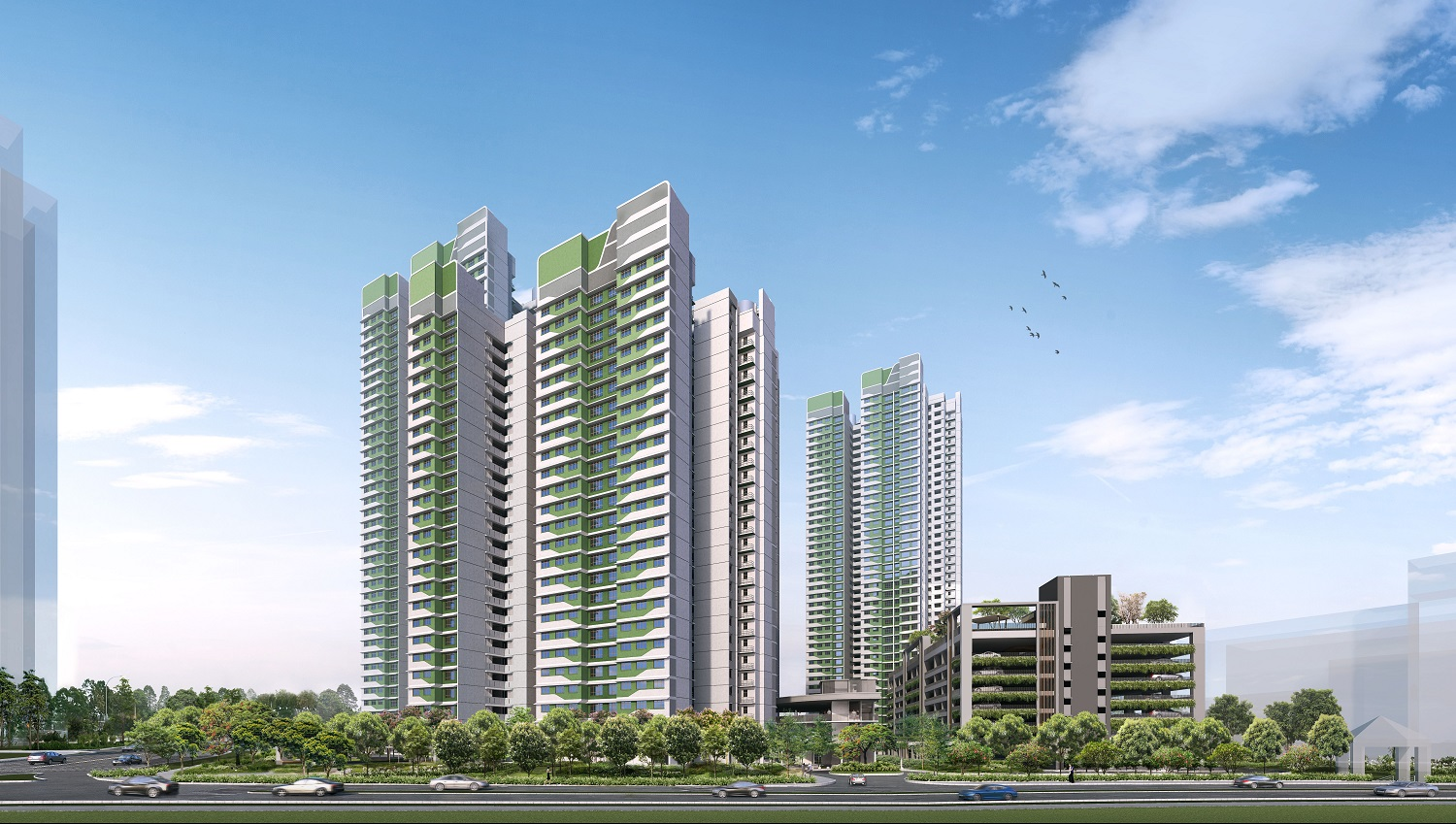Toa Payoh Ridge will be located at the junction of Lorong 1 Toa Payoh and Toa Payoh Rise. The development comprises 4 residential blocks with staggered heights of 25 to 40 storeys. (Picture: HDB)