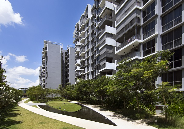 Several outdoor activity areas are scattered around the executive condo (Picture: Albert Chua/EdgeProp Singapore)