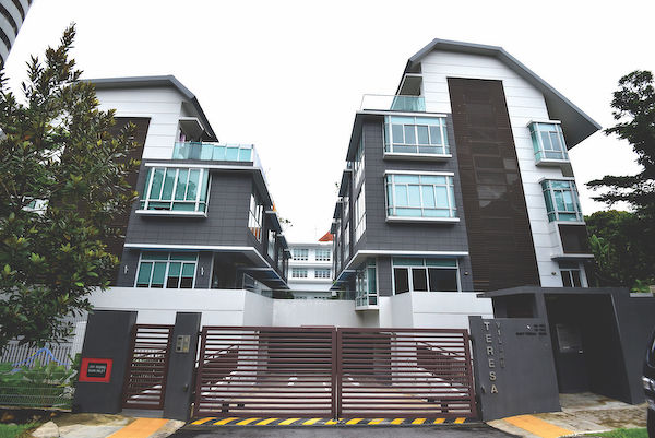EDGEPROP SINGAPORE - Teresa Villas is a freehold cluster house development with eight strata houses (Picture: Albert Chua/The Edge Singapore)