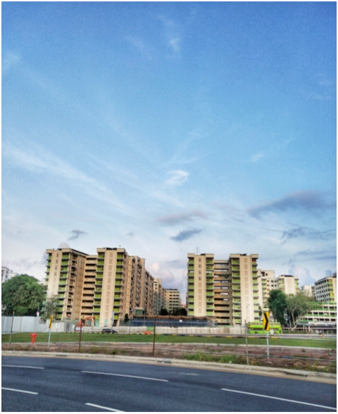WOODLANDS - A collection of HDB flats located across the road from Causeway Point