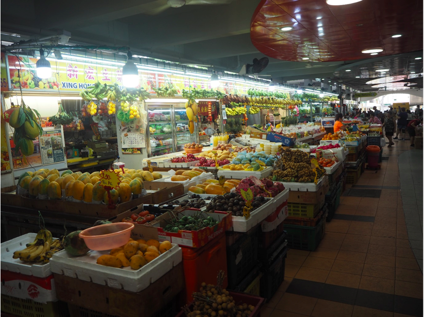 YIO CHU KANG - Fruit & vegetables stall in Ang Mo Kio 628 Market