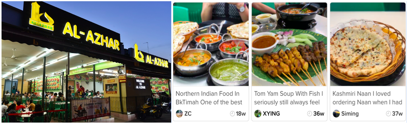 BEAUTY WORLD - Al-Azhar caters to those looking for halal Indian food, with a selection of prata, curry, tandoori sets, roti john, murtabak and briyani meals