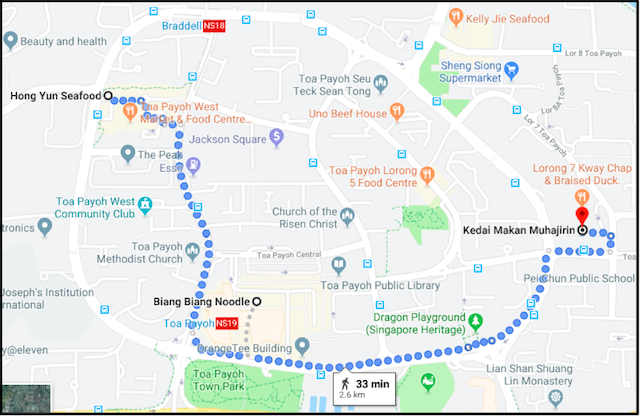 Map of Toa Payoh Food Trail EdgeProp SG - EDGEPROP SINGAPORE