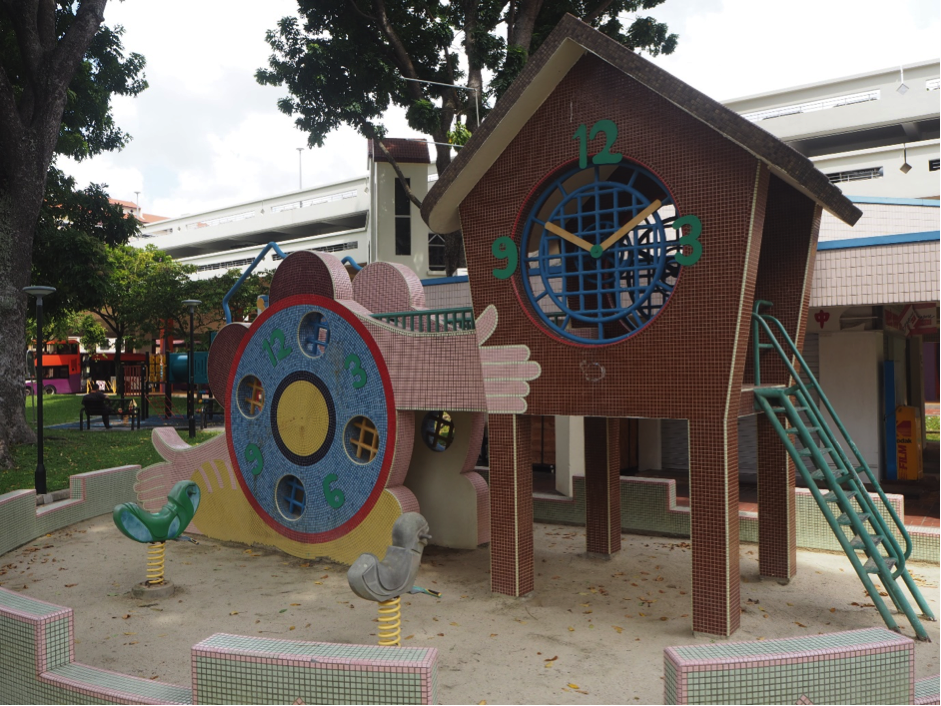 The iconic clock playground on Bishan Street 13. Credits: EdgeProp Singapore
