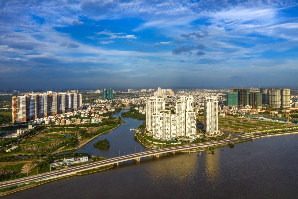 Aerial view of a new residential area in District 2, centre of Ho Chi Minh City. Photo: Shutterstock