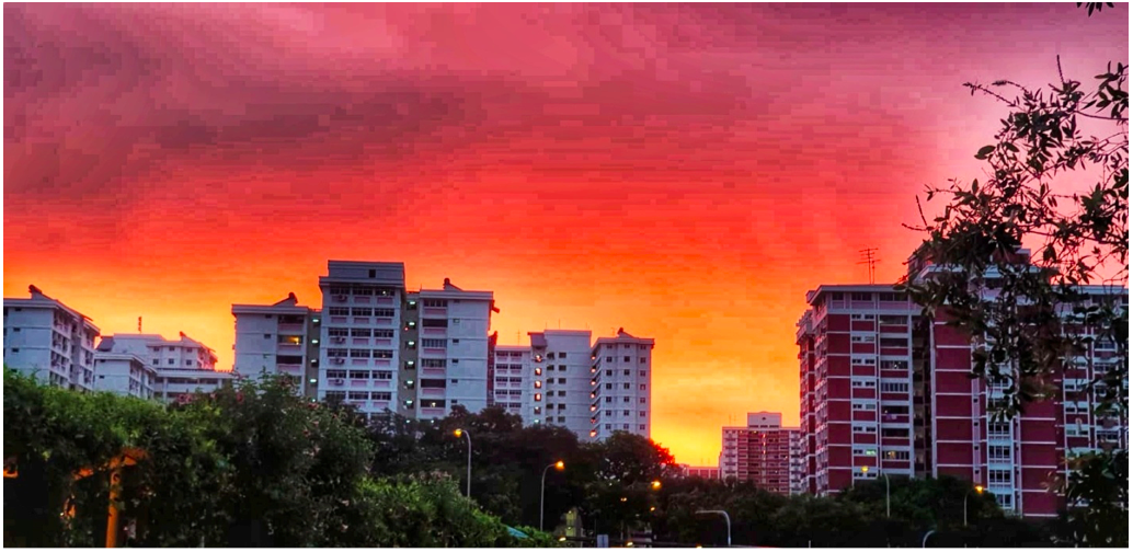 PASIR RIS - Beautiful sunsets and berried skies are a treat for some, but a typical evensong for Pasir Ris residents - EDGEPROP SINGAPORE