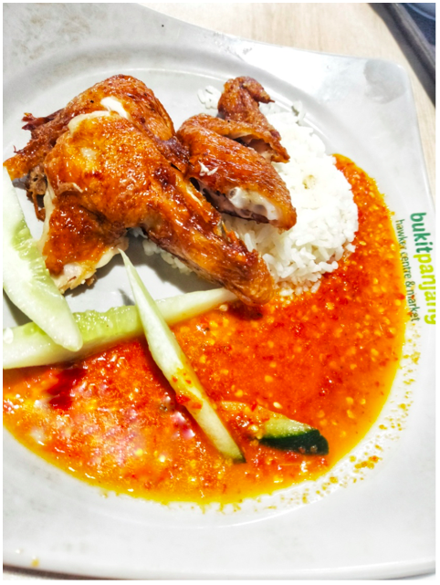 BUKIT PANJANG - Chili with a serving of rice and roast chicken