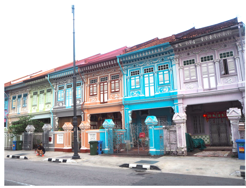 KATONG - Row of shophouses along Koon Seng Road
