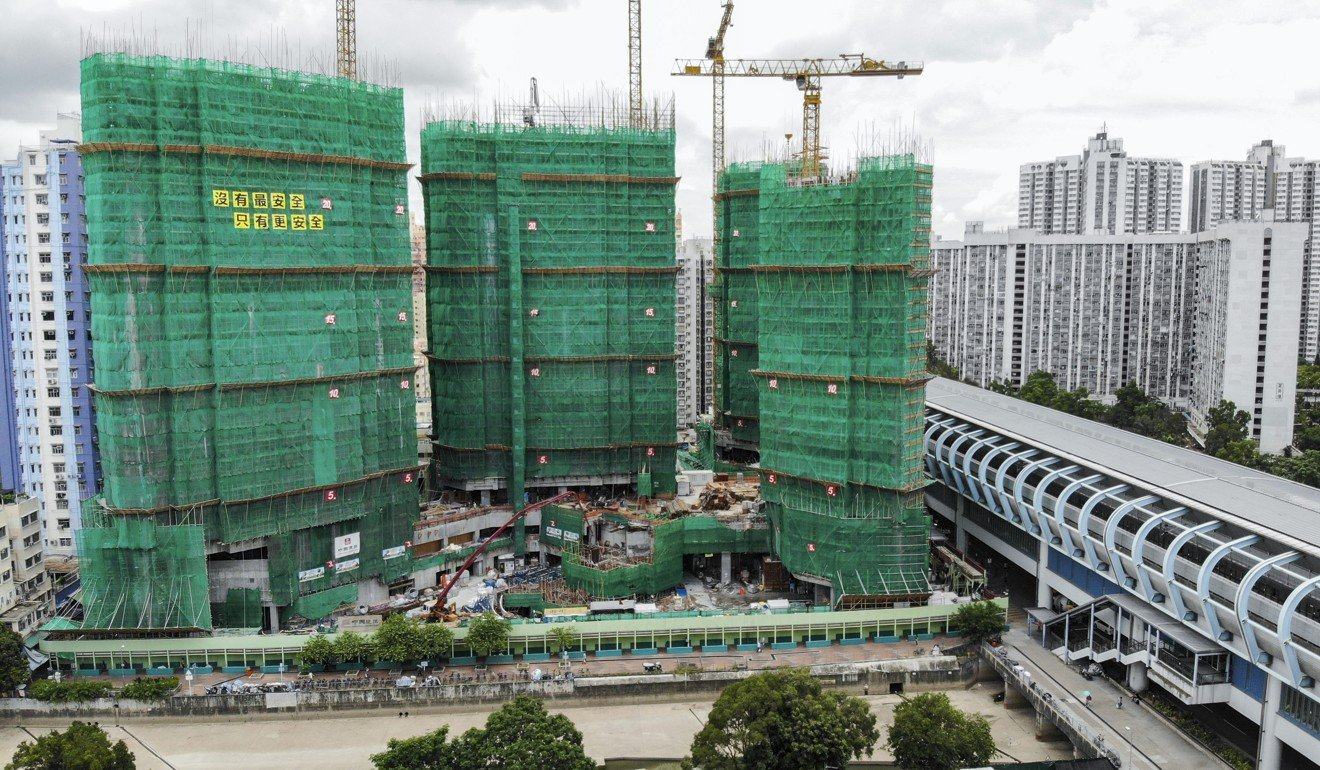Construction on Chinachem Group's Sol City residential project in Yuen Long as of July 2018. Photo: Roy Issa - EDGEPROP SINGAPORE