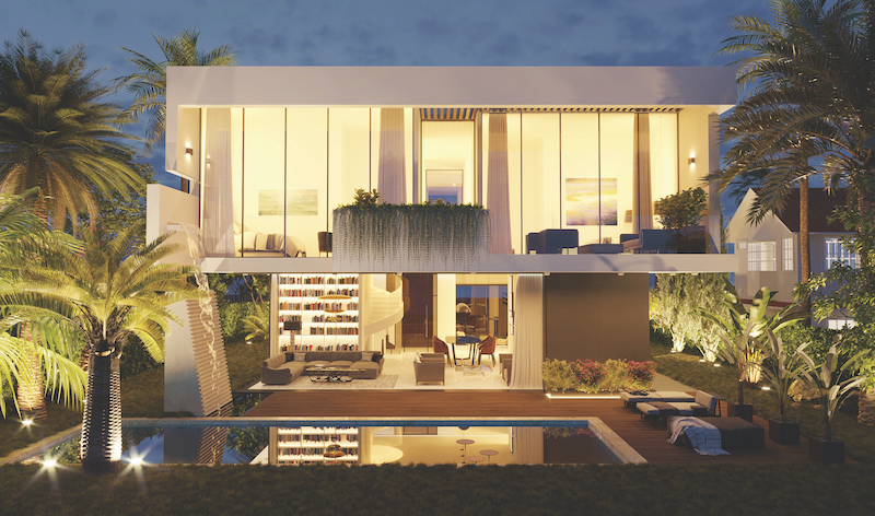 RICHARD JANY - Artist's impression of a new house with an outdoor terrace and swimming pool  (Photo: Richard Jany)