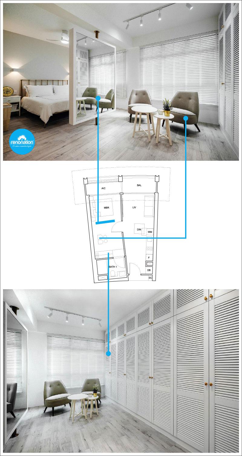One Pearl Bank Condo Layout 2 - Images courtesy of Lemonfridge Studio