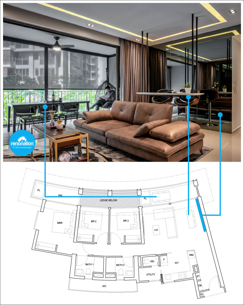 One Pearl Bank Condo Layout 6 - Image courtesy of Weiken