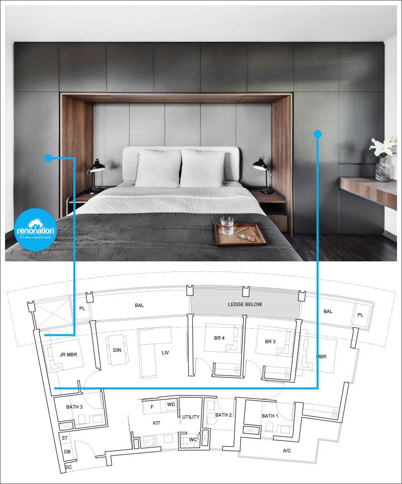 One Pearl Bank Condo Layout 9 - Image courtesy of AkiHaus