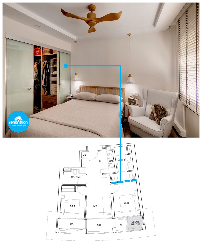 One Pearl Bank Condo Layout 4 - Image courtesy of 3D Innovations