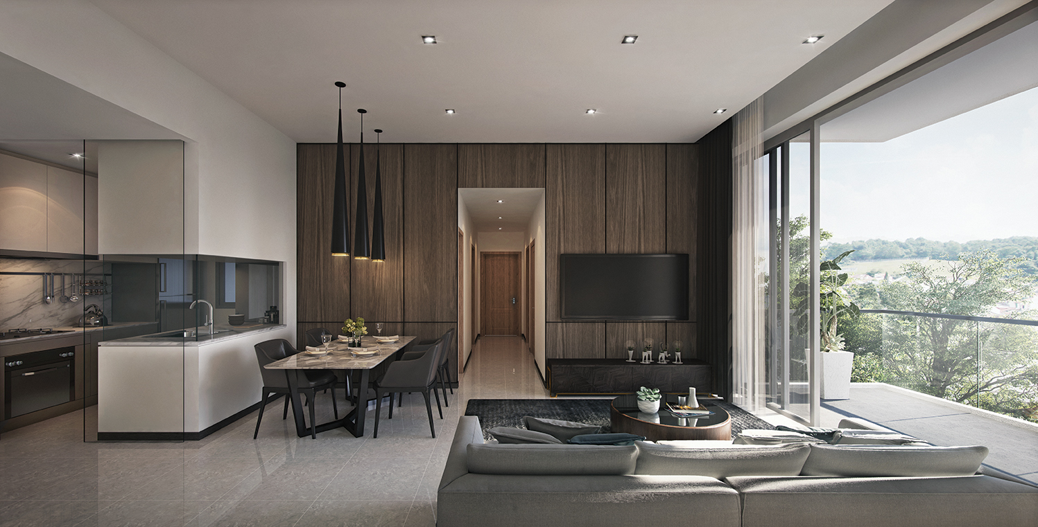 With only 108 units, freehold Mont Botanik Residence is spacious, with a clear intention to provide a landed feel for residents (Credit: Tuan Sing Holdings)