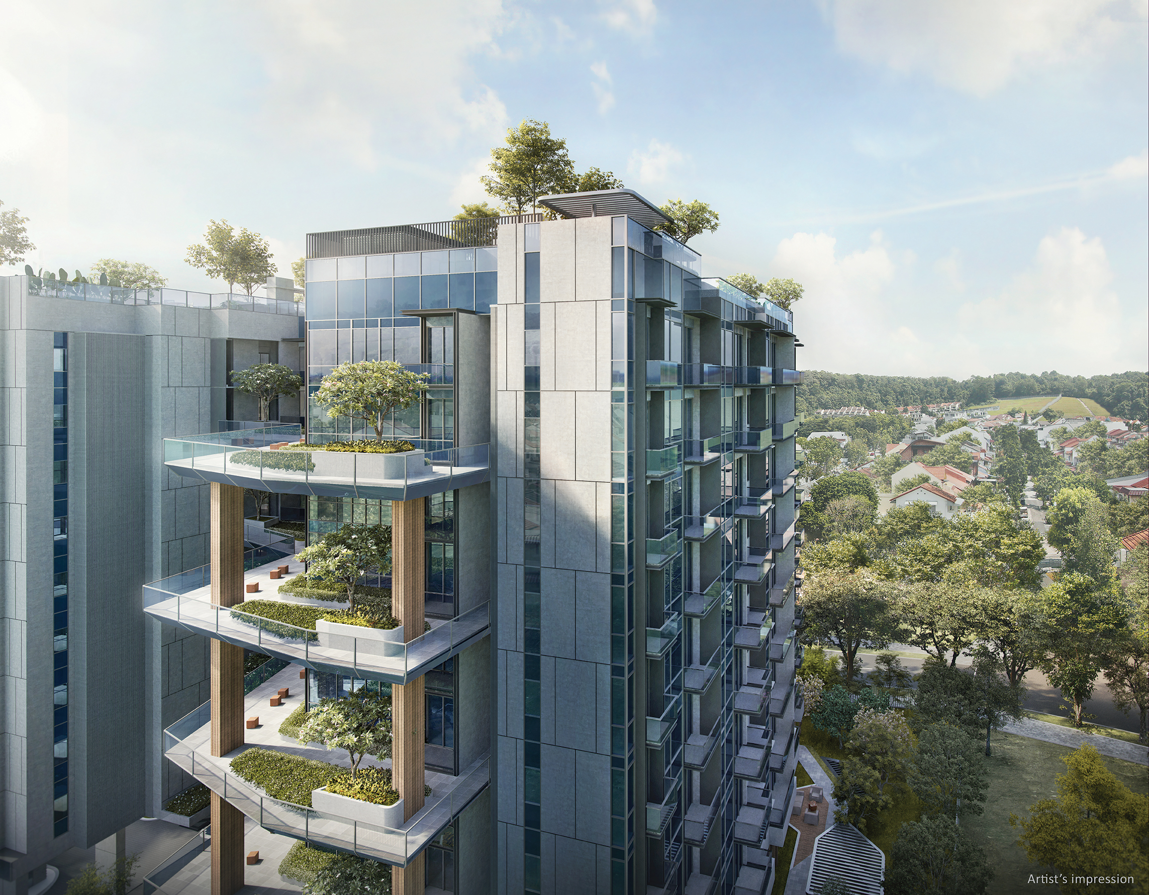 Tuan Sing's freehold Mont Botanik Residence places great emphasis on communal living in the sky, with sky gardens at one's doorsteps (Credit: Tuan Sing Holdings)