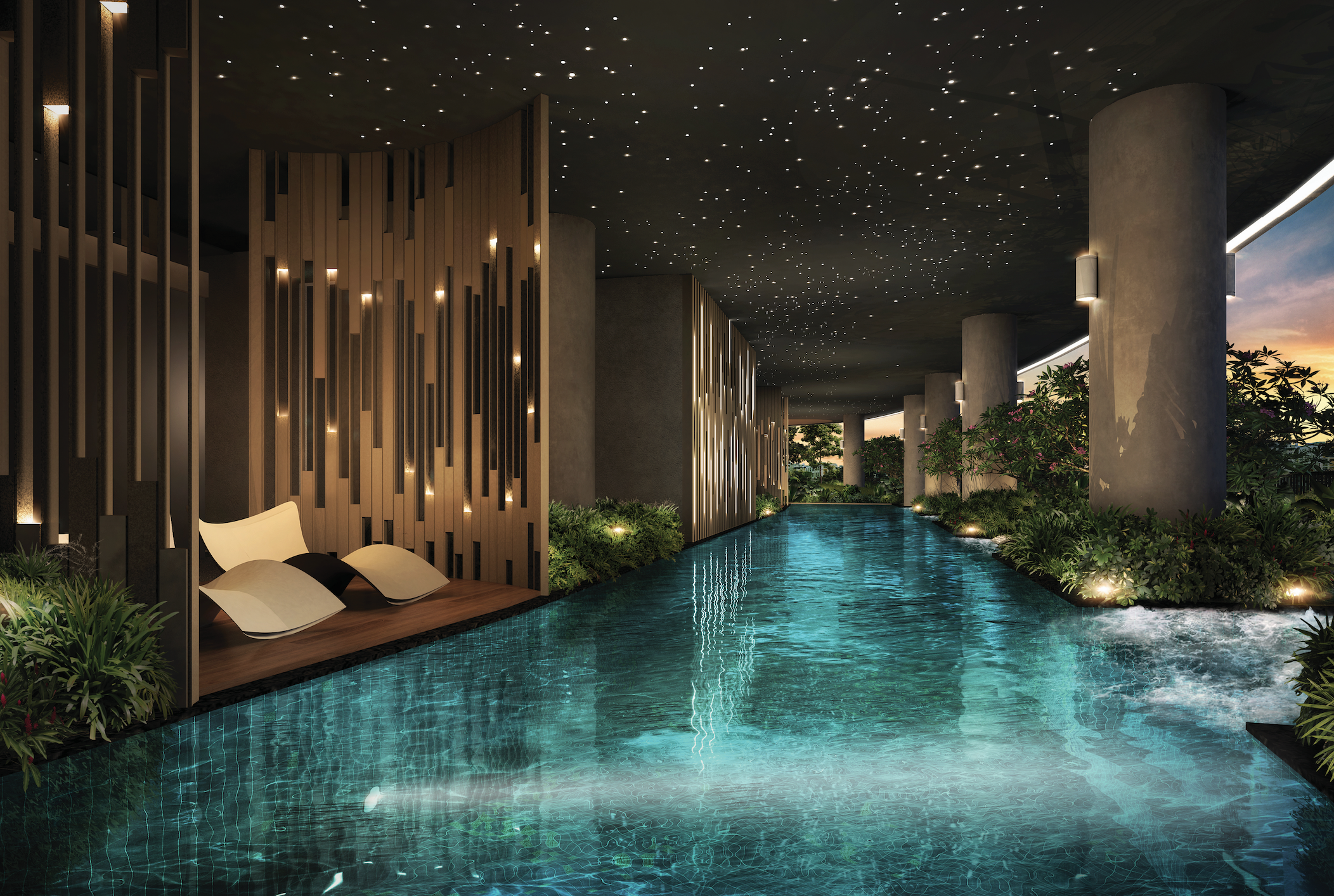 THE ANTARES - Swim under the stars at The Antares' indoor pool